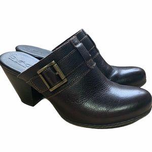 BOC Born Concept Leather Mule / Clog Size 9 Brown